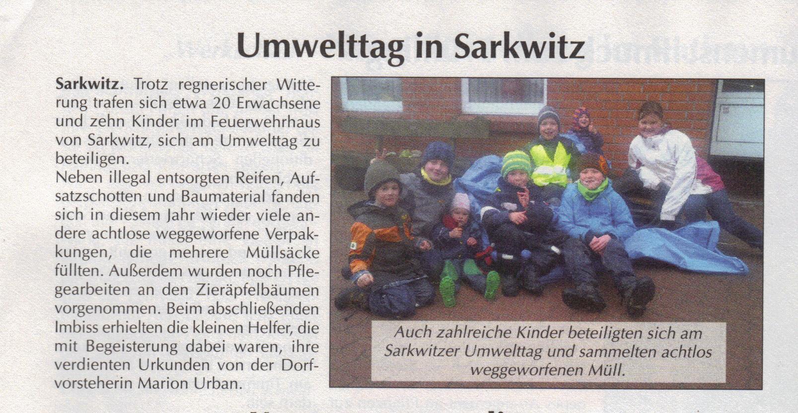 Umwelttag 2013 in Sarkwitz