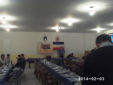 der Saal wurde zur Lichtmessversammlung 2014 für rund 100 Gäste eingedeckt. (Foto: R.Melchin)